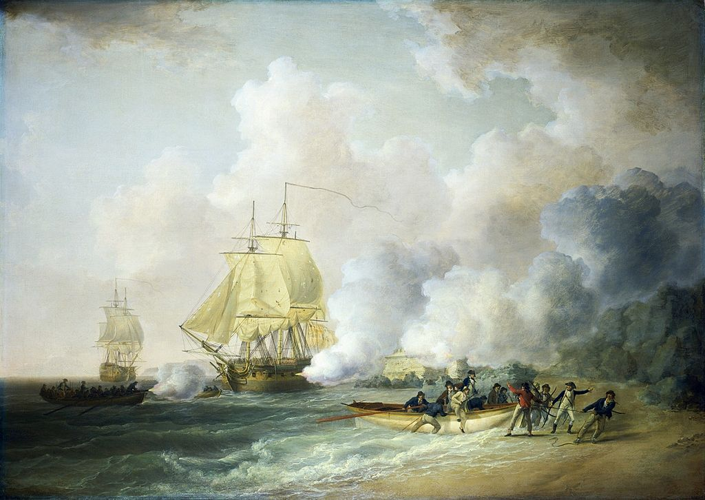 The capture of Fort Louis on Martinique in 1794