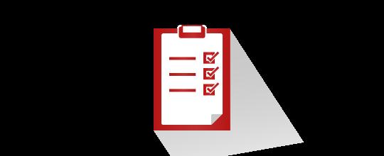liste sur un presse-papier / clipboard with checklist